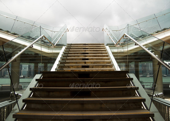 Stairs Way Walk Up To Viewpoint - Stock Photo - Images