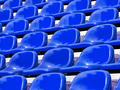 regular Blue seats in a stadium - PhotoDune Item for Sale