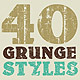 40 Grunge Photoshop Styles - GraphicRiver Item for Sale