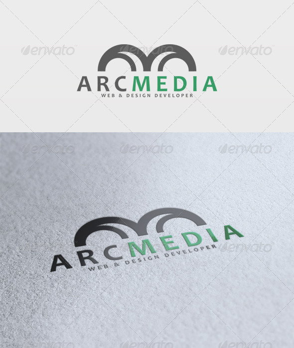 Arc Media Logo - Vector Abstract