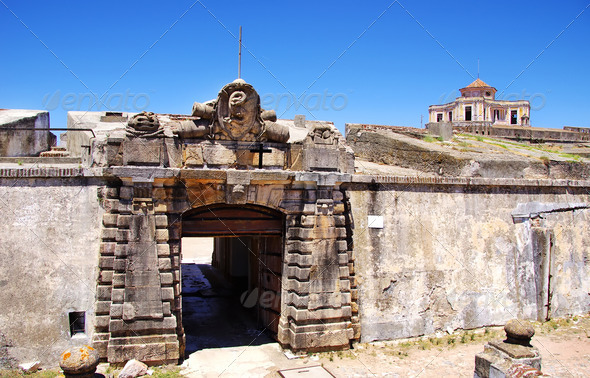 Entrance of Fort of Graça, Elvas, Portugal - Stock Photo - Images