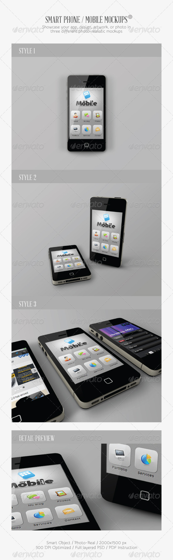 Smart Phone / Mobile Mock-ups V2 - Mobile Displays
