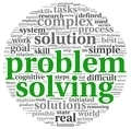Problem solving in word tag cloud on white - PhotoDune Item for Sale