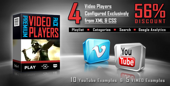 ActiveDen Premium Video Players Pack FLV YouTube Vimeo 275068