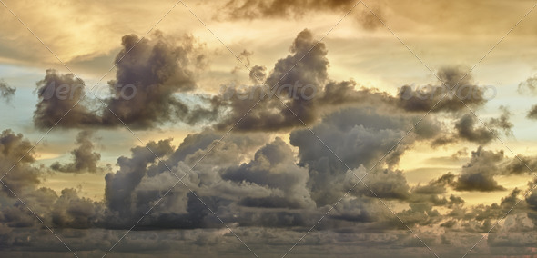 Dark storm clouds - Stock Photo - Images