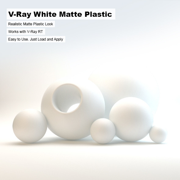 V-Ray White Matte Plastic - 3DOcean Item for Sale