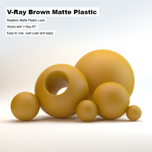 V-Ray Brown  Matte Plastic - 3DOcean Item for Sale