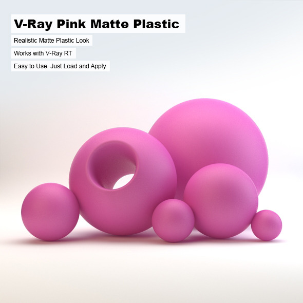 V-Ray Pink Matte Plastic - 3DOcean Item for Sale