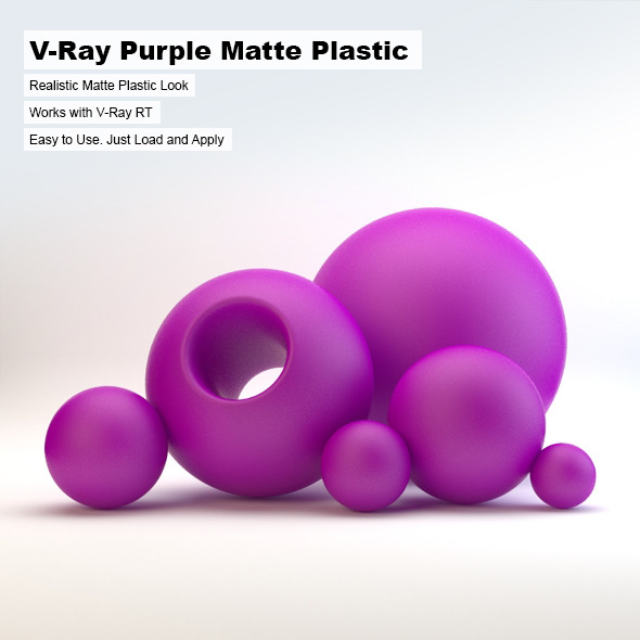 V-Ray Purple Matte Plastic - 3DOcean Item for Sale