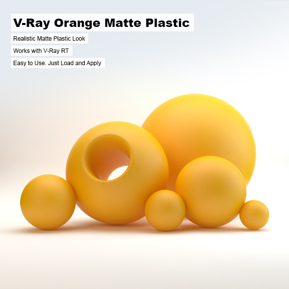 V-Ray Orange Matte Plastic - 3DOcean Item for Sale