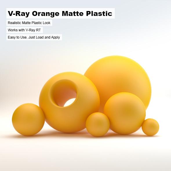 3DOcean V-Ray Orange Matte Plastic 2603172