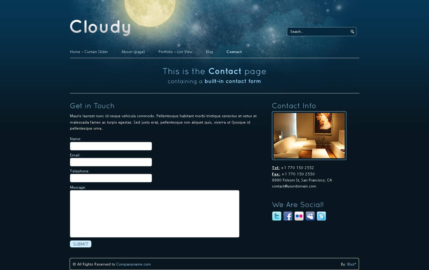 Cloudy-2 in 1 Unique Business &amp; Portfolio Template