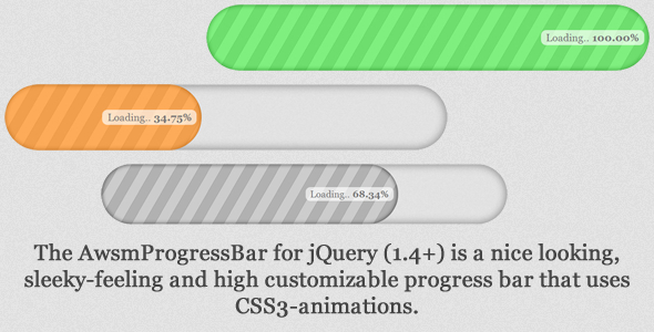 CodeCanyon AwsmProgressBar for jQuery 2598901