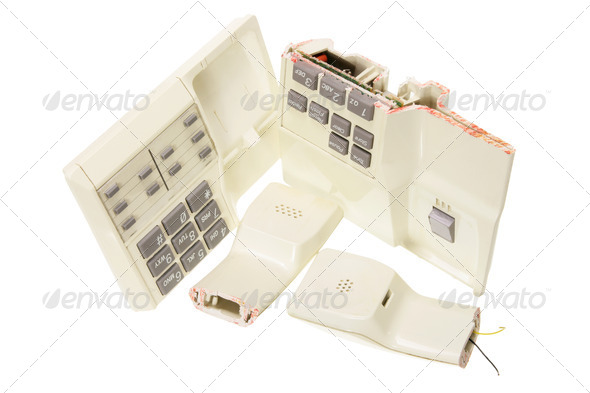 Broken Telephone - Stock Photo - Images