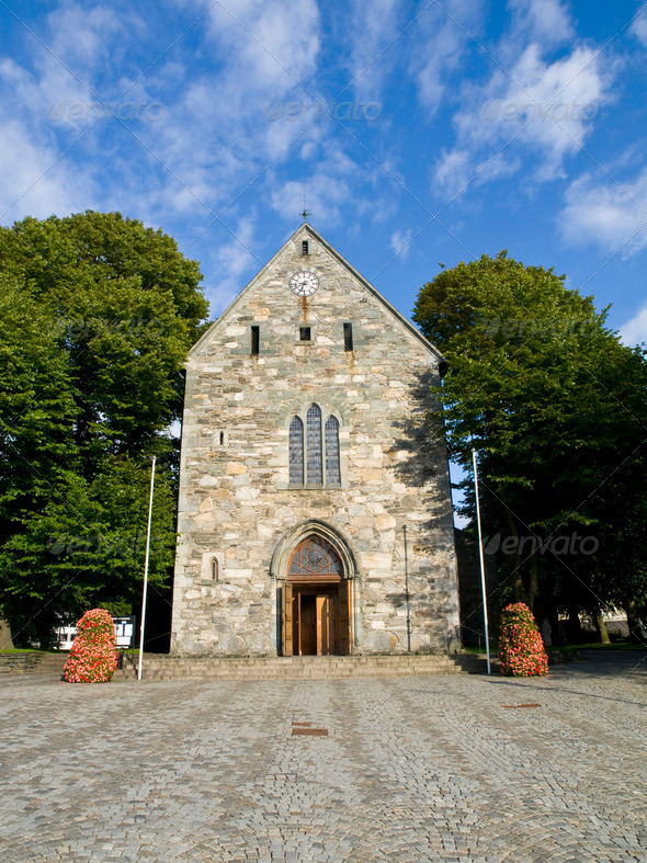 Stavanger Gothic Cathedral - Stock Photo - Images