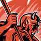 Devil Demon With Trident Pitchfork - GraphicRiver Item for Sale
