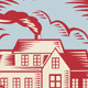 House Homestead Cottage Woodcut - GraphicRiver Item for Sale