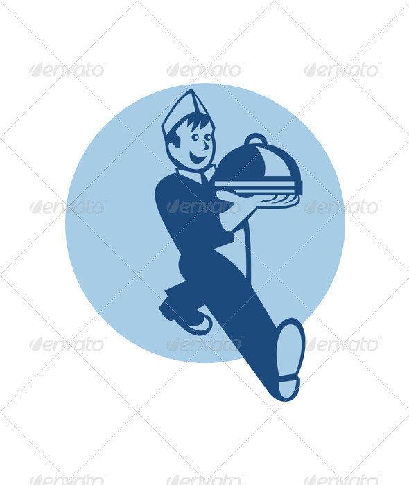 GraphicRiver Waiter Cook Chef Baker Serving Food 2606232