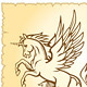 Winged mystery horse illustration - GraphicRiver Item for Sale