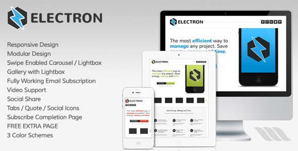 Electron - Responsive Landing Page - Landing Pages Marketing
