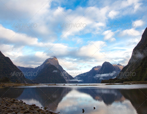 Milford sound New Zealand - Stock Photo - Images