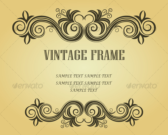 Vintage frame in victorian style - Flourishes / Swirls Decorative