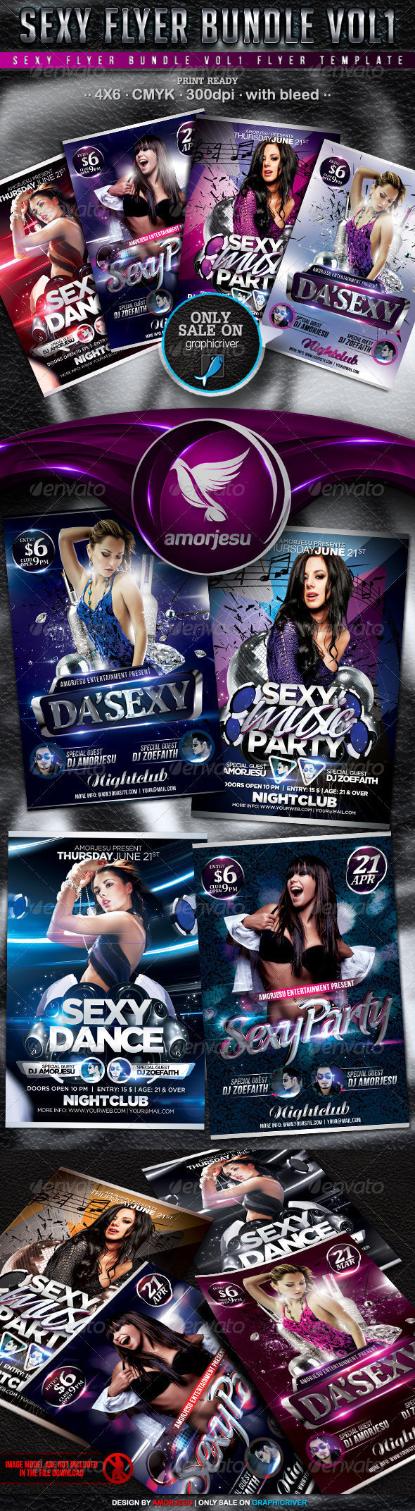 Sexy Flyer Bundle Vol1 - 4 in 1 - Events Flyers
