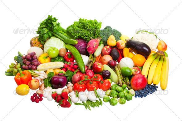 fruit and vegetables - Stock Photo - Images