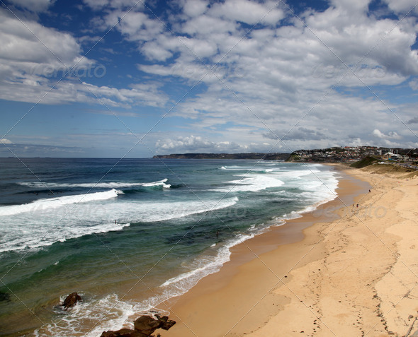 Bar Beach - Newcastle Australia - Stock Photo - Images