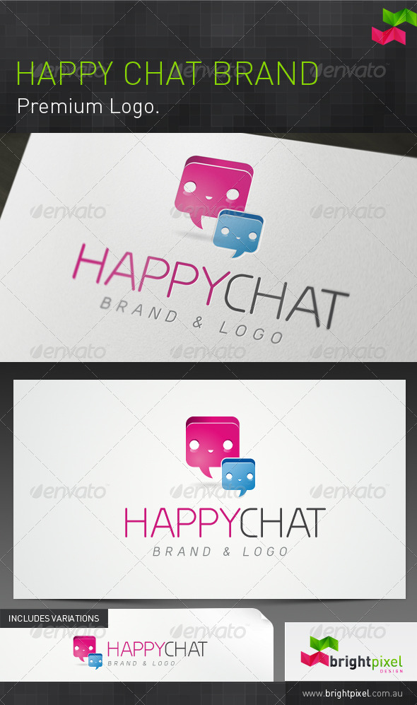 Happy Chat Brand - Symbols Logo Templates