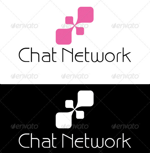 Chat Logo - Vector Abstract