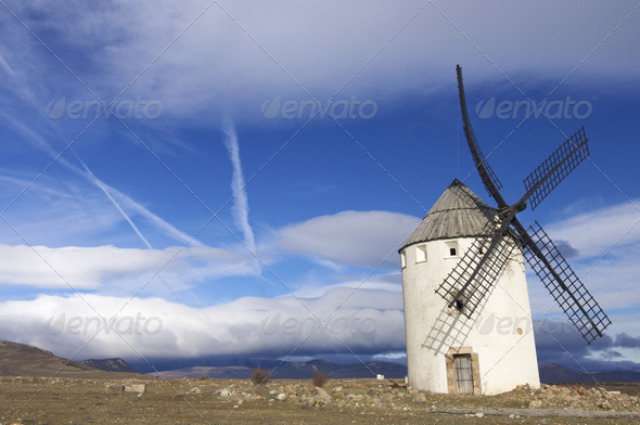 spanish windmill - Stock Photo - Images