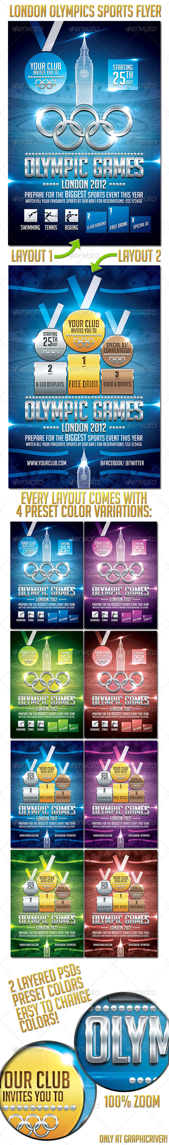 GraphicRiver London Olympics Sports Flyer 2609544