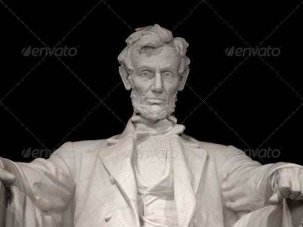Lincoln Memorial Close Up - Stock Photo - Images