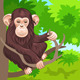 Vector of funny monkey chimp in the jungle - GraphicRiver Item for Sale