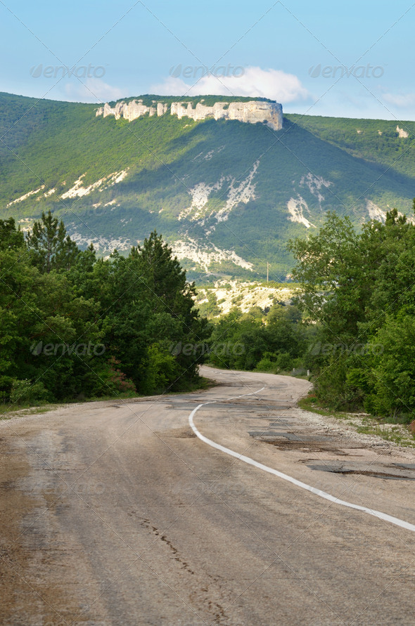 Old road in mountains - Stock Photo - Images