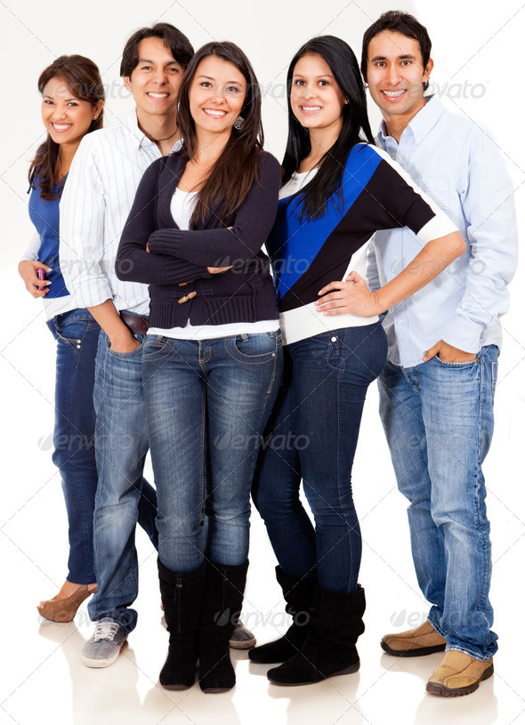 Casual group of friends - Stock Photo - Images