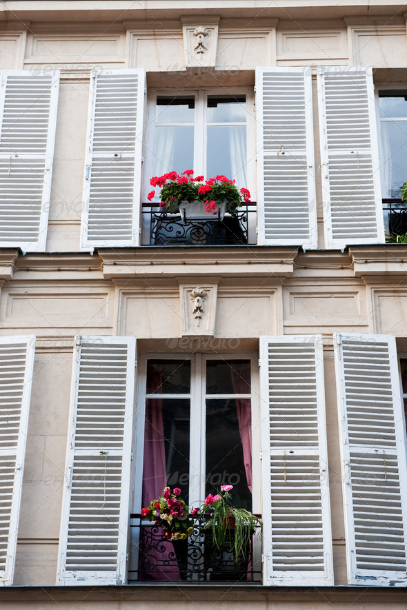 Typical French windows - Stock Photo - Images