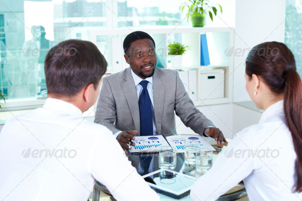 At meeting - Stock Photo - Images