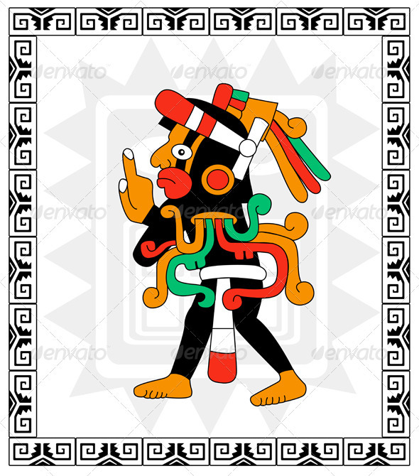 Warrior in style of the Maya - People Characters