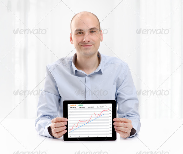 Stock Exchange Businessman - Stock Photo - Images