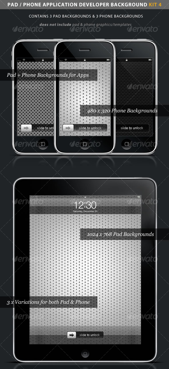 iPad / iPhone App Developer Kit 4 > Metal - Backgrounds Graphics