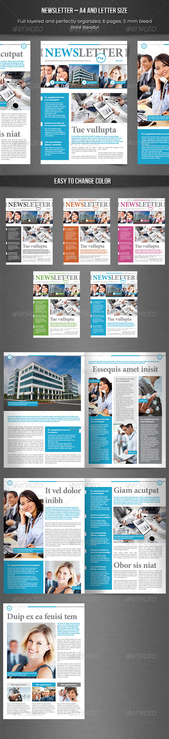 Newsletter vol. 3  Indesign Template - Newsletters Print Templates