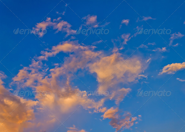 colorful of the evening sky - Stock Photo - Images