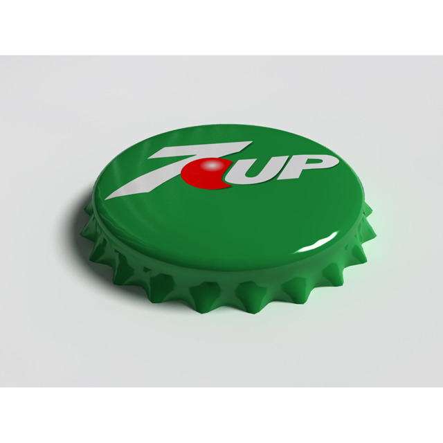 7up Bottle Tin Cap - 3DOcean Item for Sale
