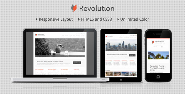 Revolution - Responsive Minimalist WordPress Theme