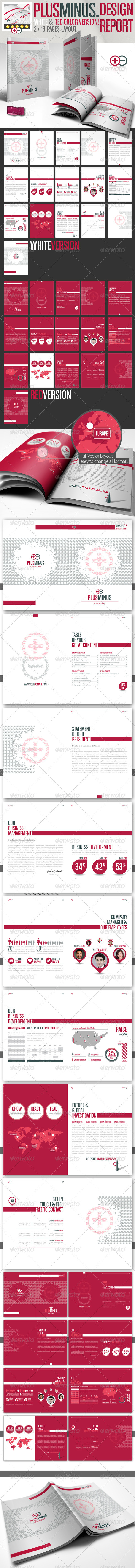 Corporate Brochure PLUSMINUS A4 // 2 Color Version - Corporate Brochures
