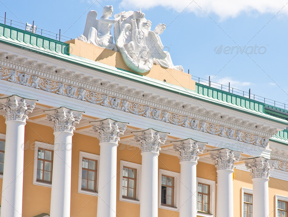 The facade of the house St. Petersburg, Russia - Stock Photo - Images