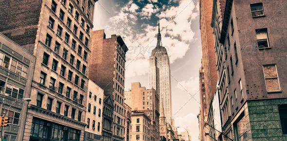 Architecture Detail of New York City, U.S.A. - Stock Photo - Images