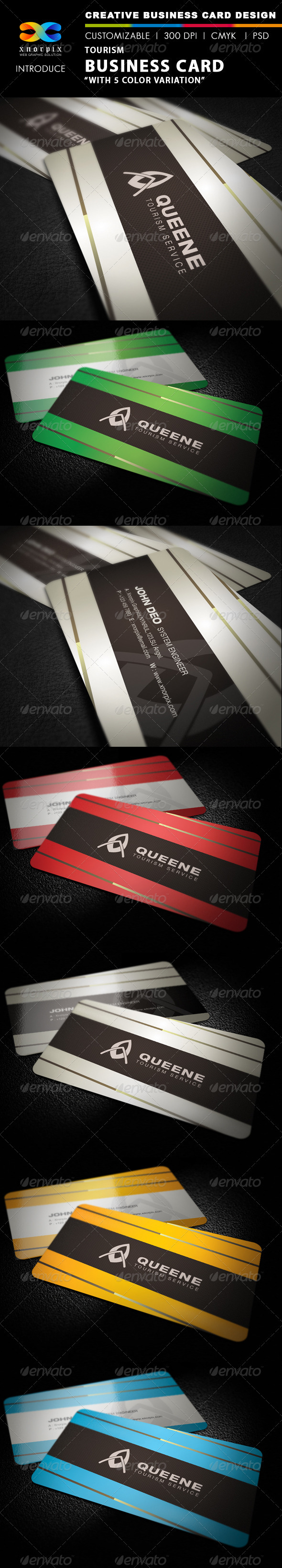 Tourism Business Card - Corporate Business Cards